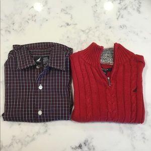 Nautica shirt and sweater